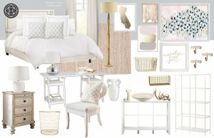 blush pink bedroom design -- concept phase