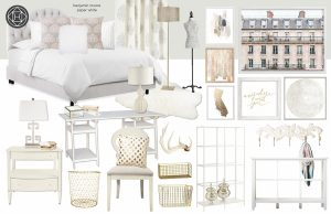 blush pink bedroom design - concept phase