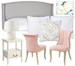 blush pink bedroom - first design idea