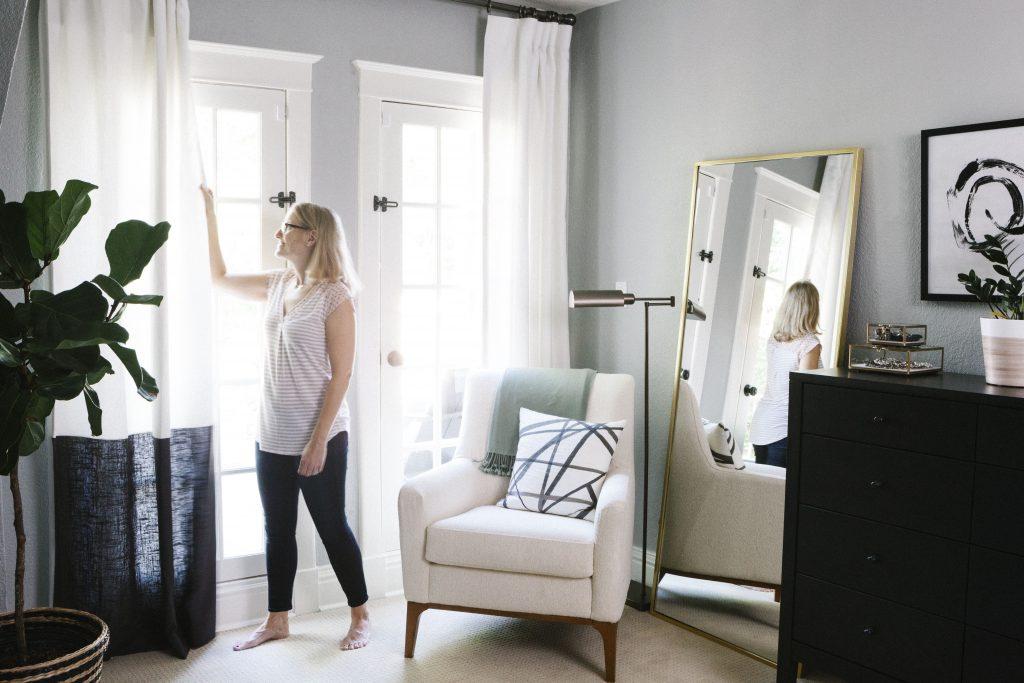 The Black & White Abode Part 5: Choosing Window Treatments