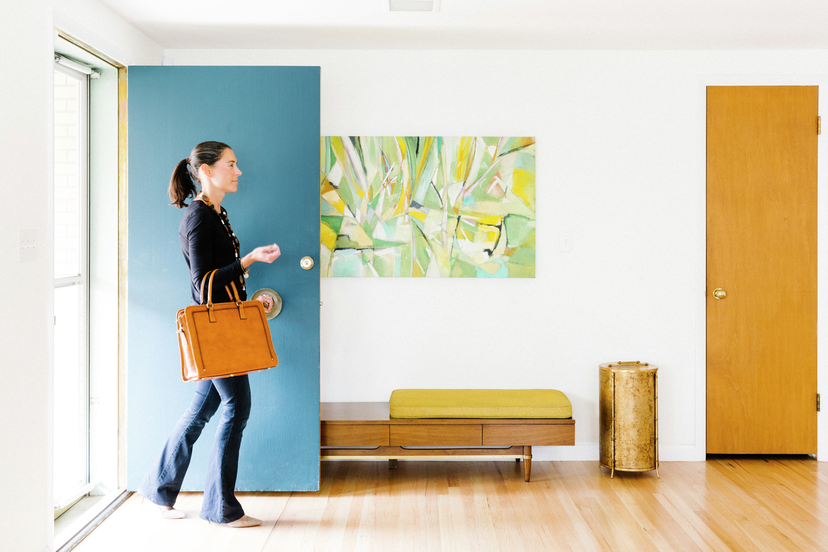 Molly's mid-century modern home entryway