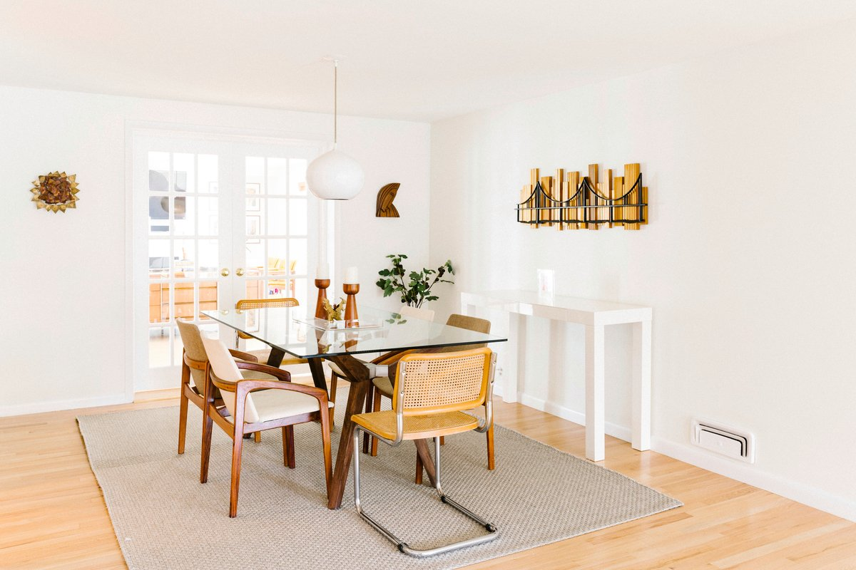 Molly Bevan's mid-century modern home dining room