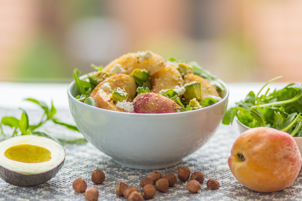 Grilled Peach and Basil Salad with Hazelnut Dukkah Recipes