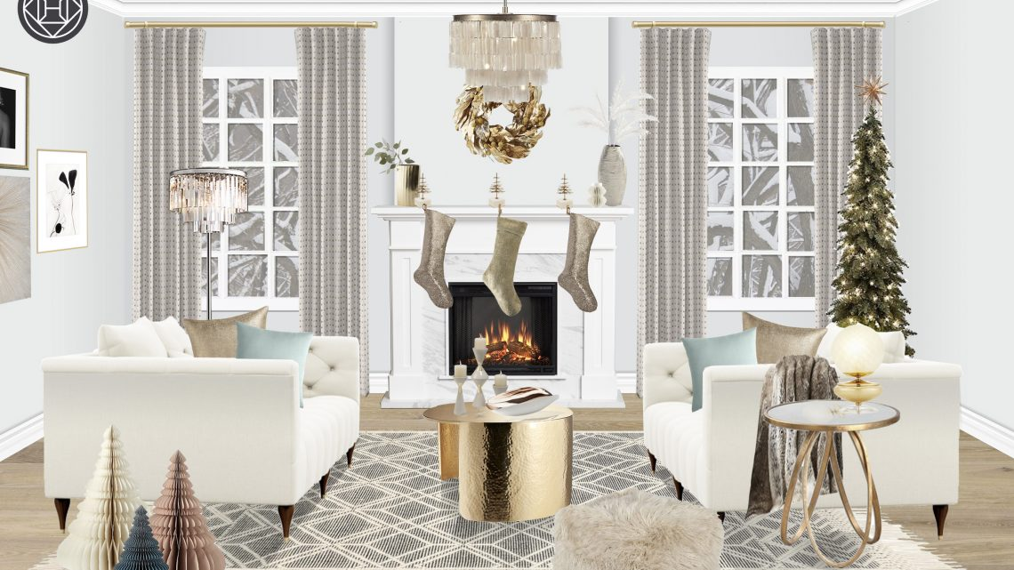 winter white holiday decor