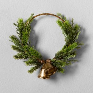 Pine wreath with bell