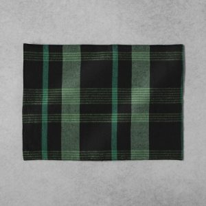 Green plaid placemat