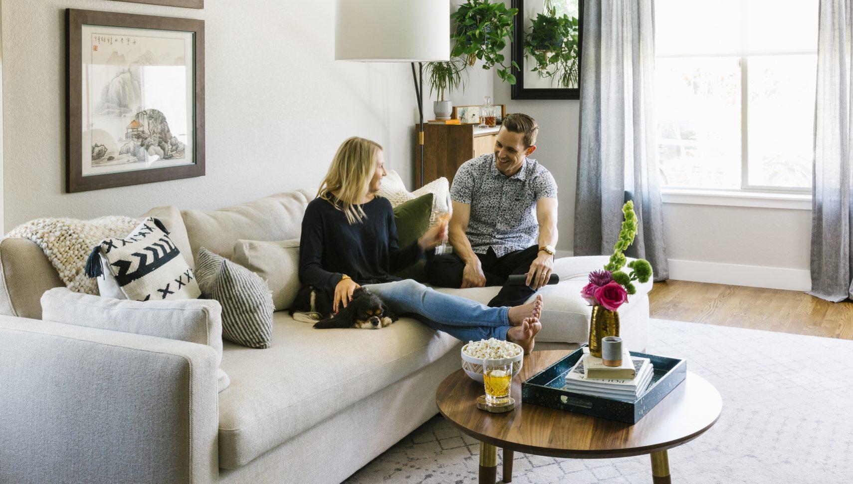 cozy modern living room