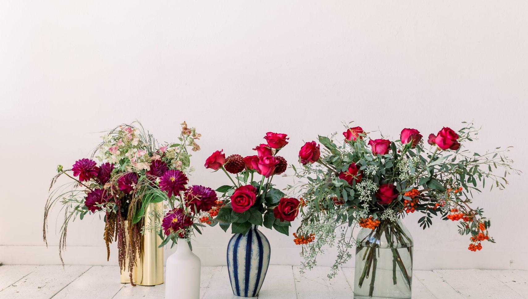 lush floral bouquets