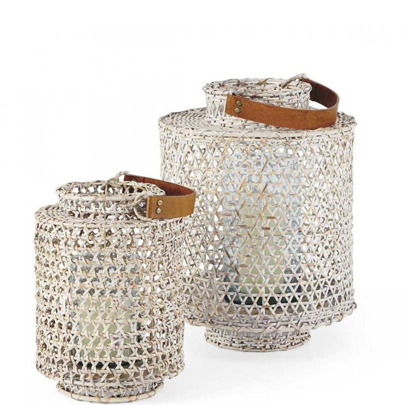 Whitewashed Rattan Hurricane from Serena & Lily