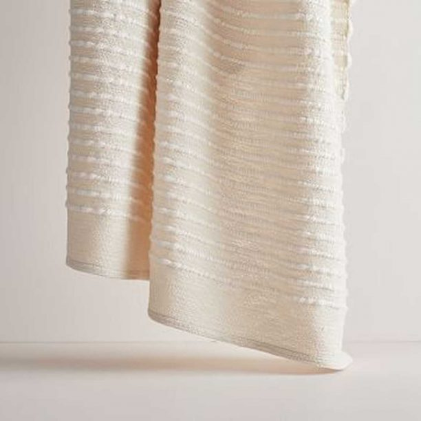 Soft Corded Throw in Natural from West Elm