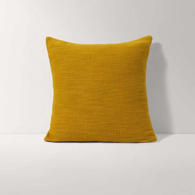 Yellow Square Throw Pillow from Burrow