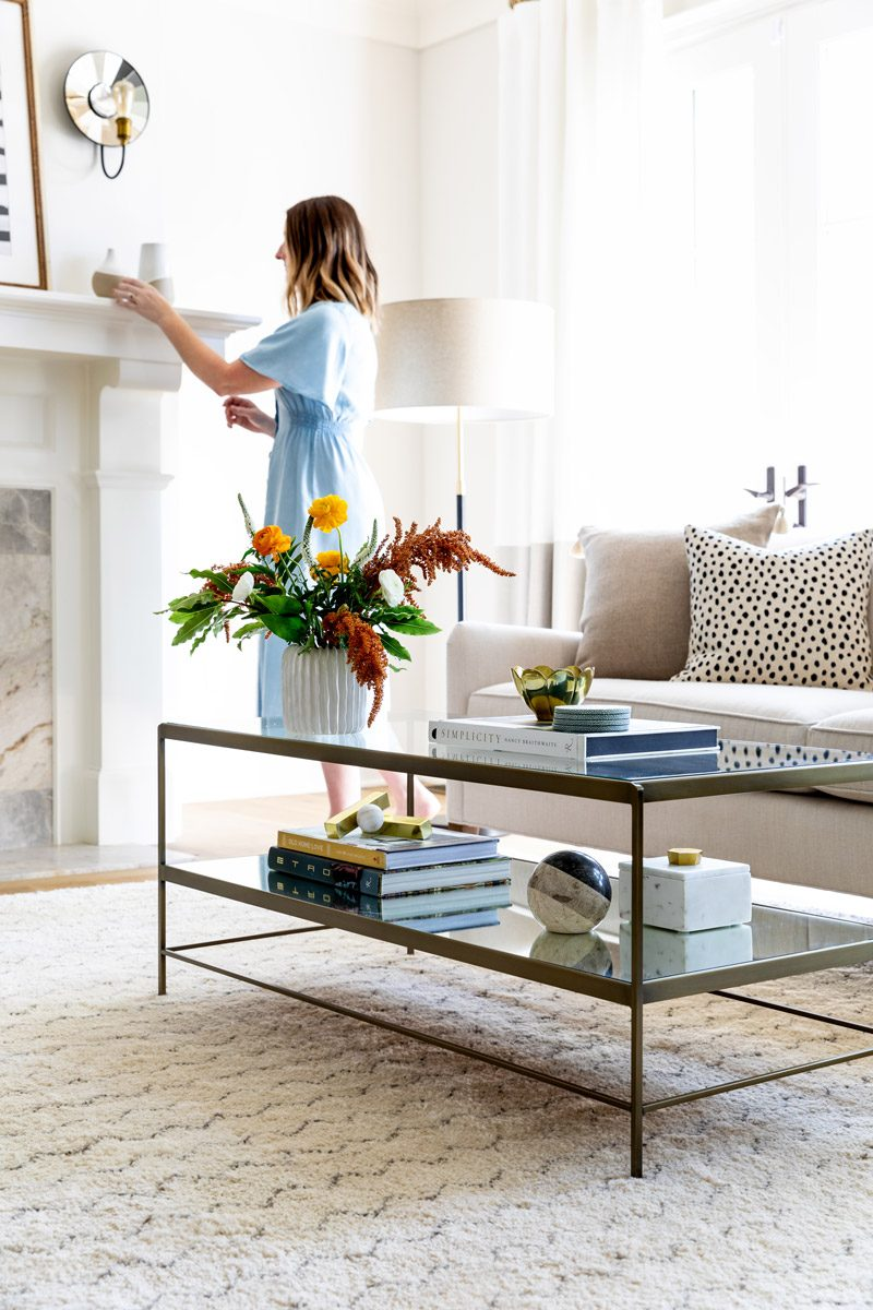 Coffee table with storage.