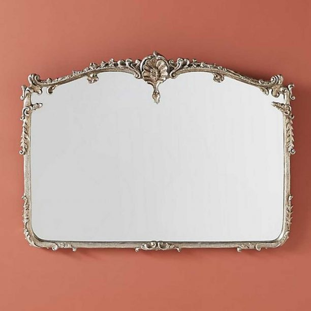 Josephine Mantel Mirror in Silver from Anthropologie