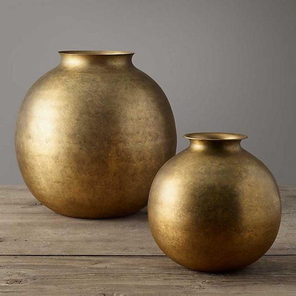 Burnished Brass Vase from Restoration Hardware