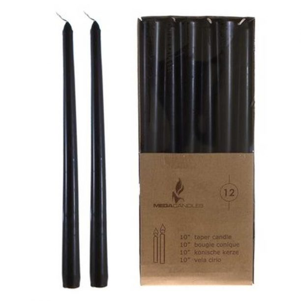 Black Taper Candles from Wayfair, $18.99