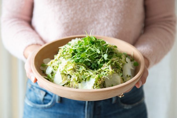 Shaved Brussels Sprouts & Pecorino