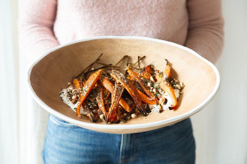 Roasted Carrots with Hazelnuts & Za'atar