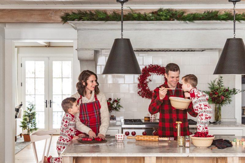 Family enjoying a holiday treat