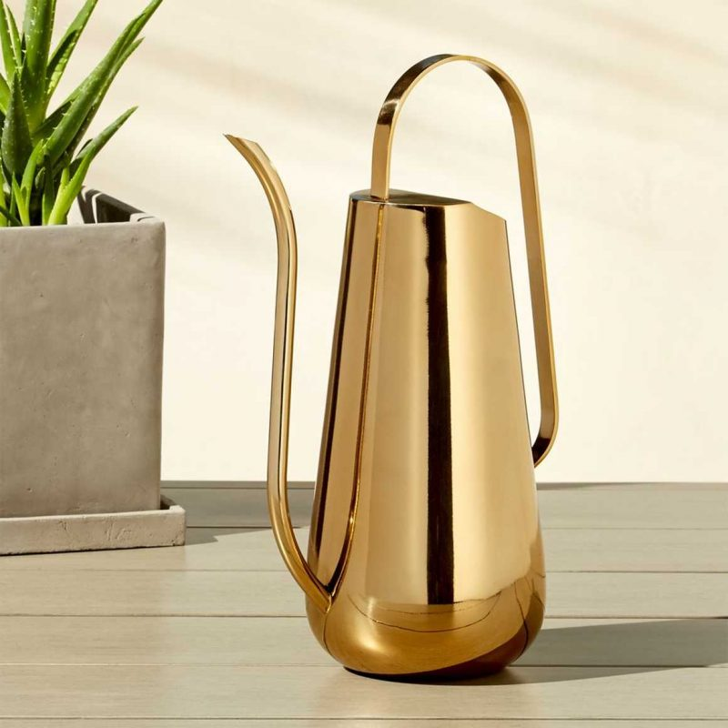 CB2 brass watering can