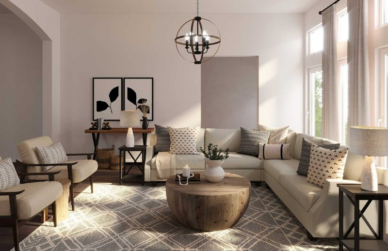 Classic / Bohemian / Farmhouse / Rustic / Transitional Living Room Interior Design by Lisa