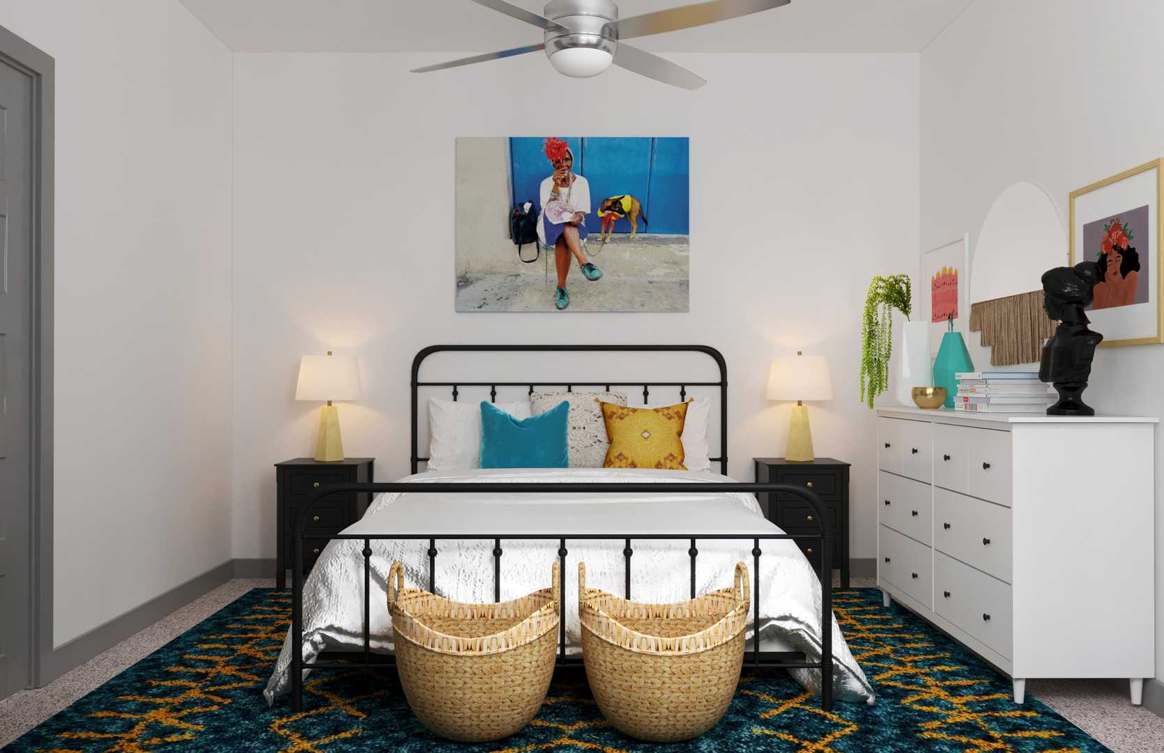 5 Ways To Nail A Jet Setter Bohemian Vibe In Your Bedroom Havenly Blog Havenly Interior Design Blog
