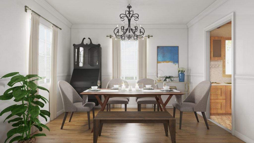 Create a Modern Dining Room Where the Meal is Center Stage