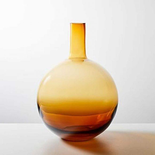 Foundations Vase, Amber, 14.75