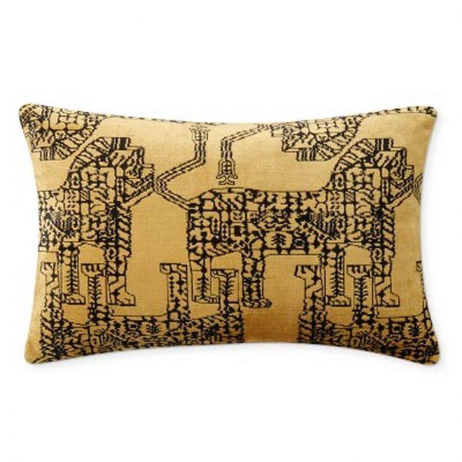 Williams Sonoma Tamar Velvet Jacquard Pillow Cover, 14
