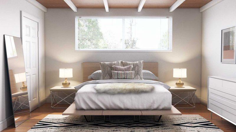 Furs in Scandinavian Bedroom