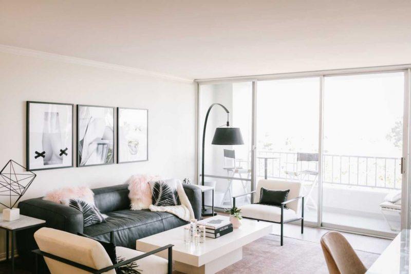 Glam modern living room