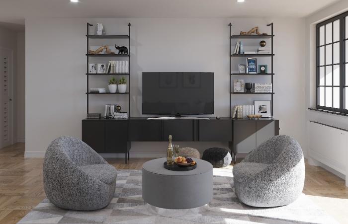 Gray Modern Living Room