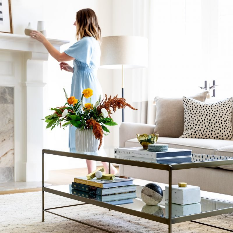 Styling with coffee table books