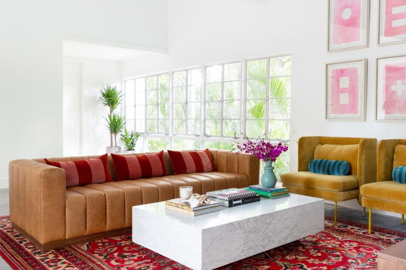 Bold and vibrant living room