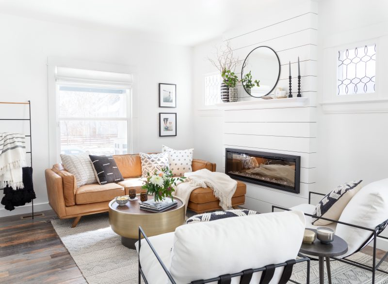 Cozy and comfortable living room designed by Havenly