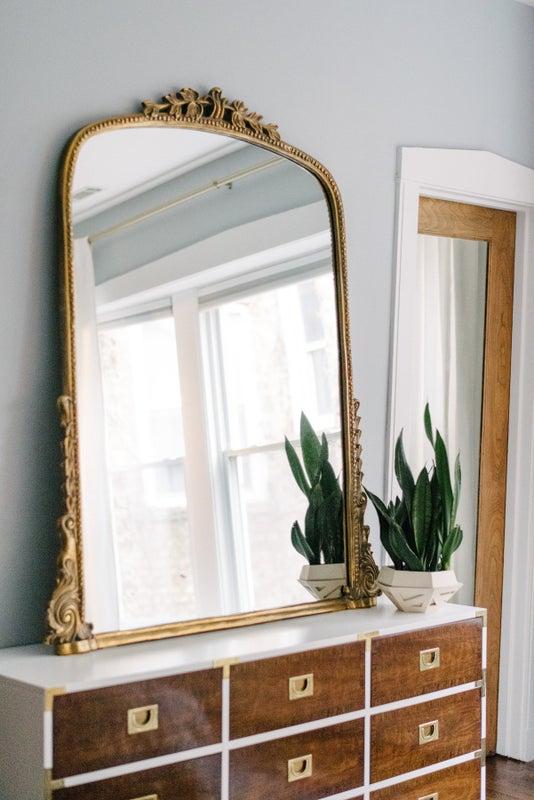 Parisian Mirror above dresser