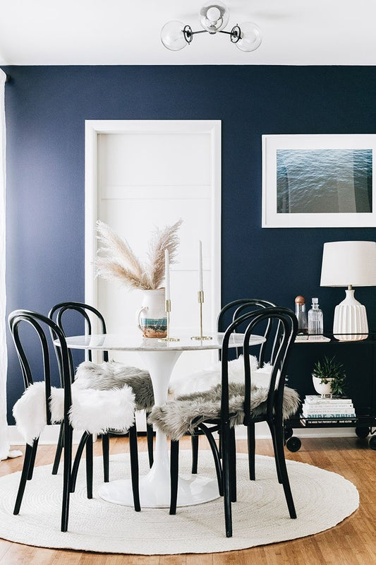 high contrast dining
