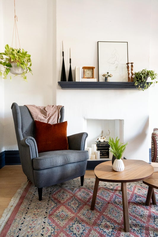 vintage eclectic sitting room
