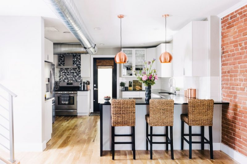 counterstools in kitchen
