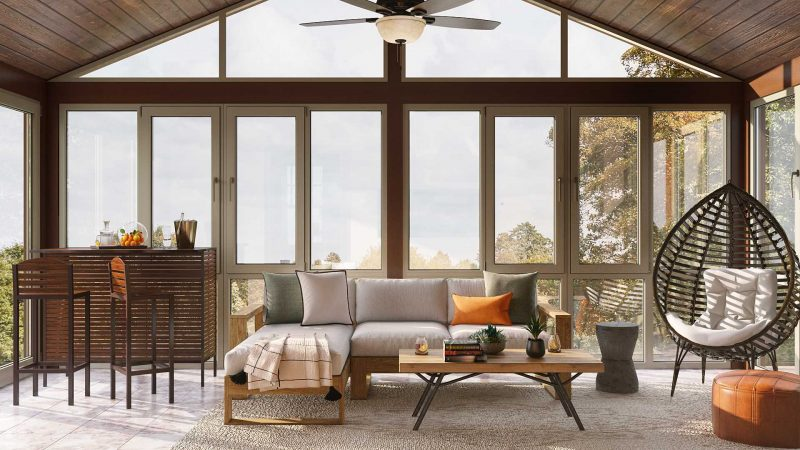 Organic Modern Sunroom