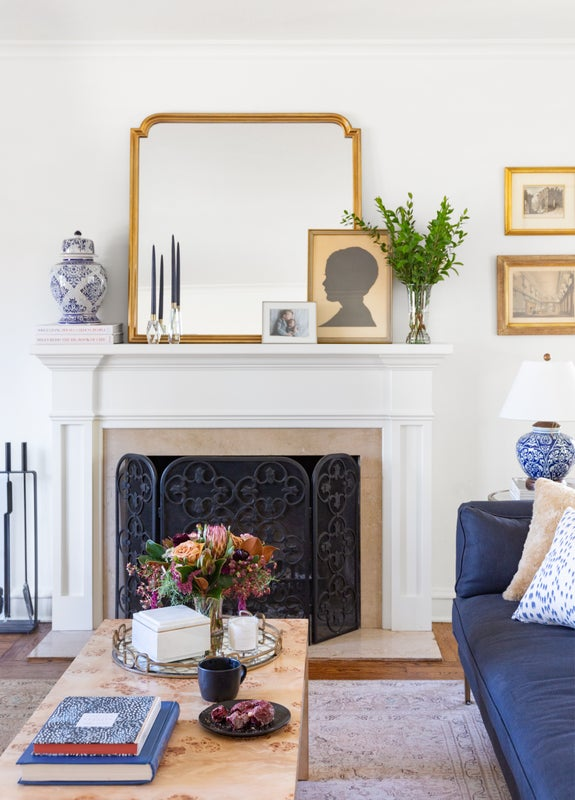 living room fireplace styling