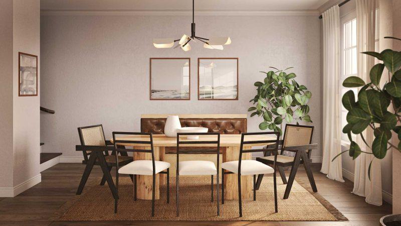 scandi mid mod dining room