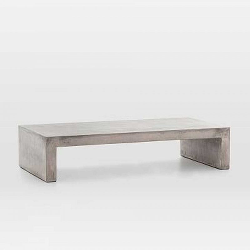 concrete waterfall coffee table