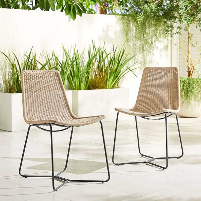 rattan outdoor dining chair