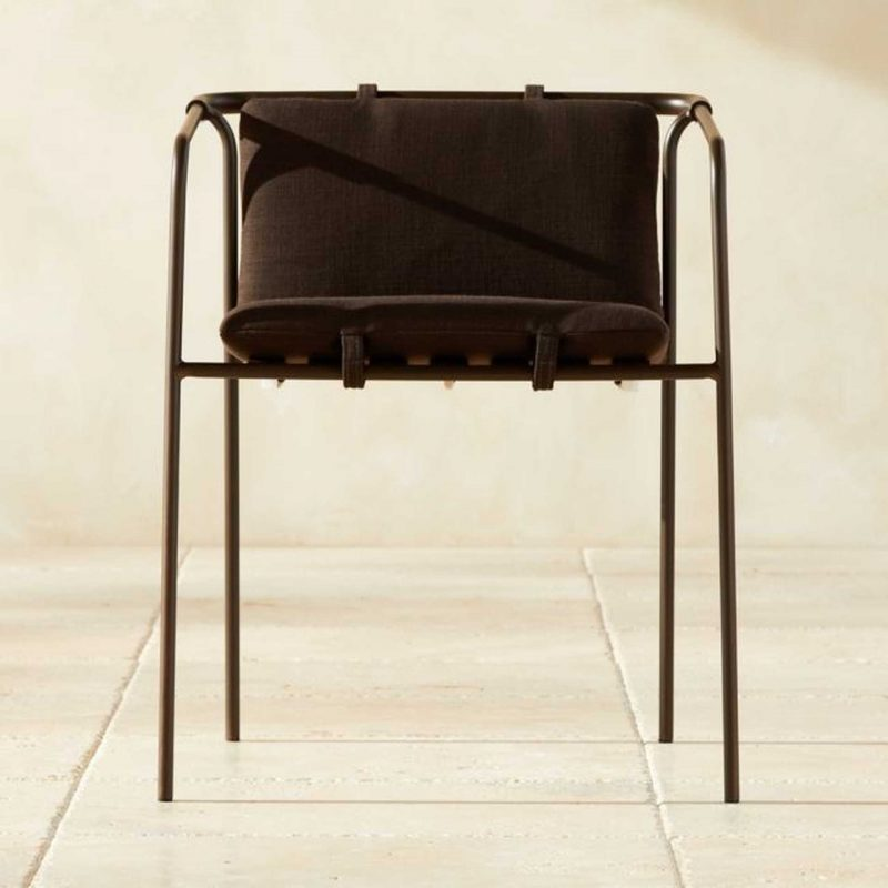 Bronze outdoor dining chair