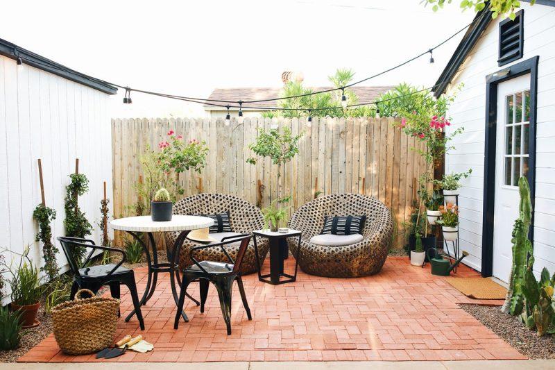 Backyard with Pavers