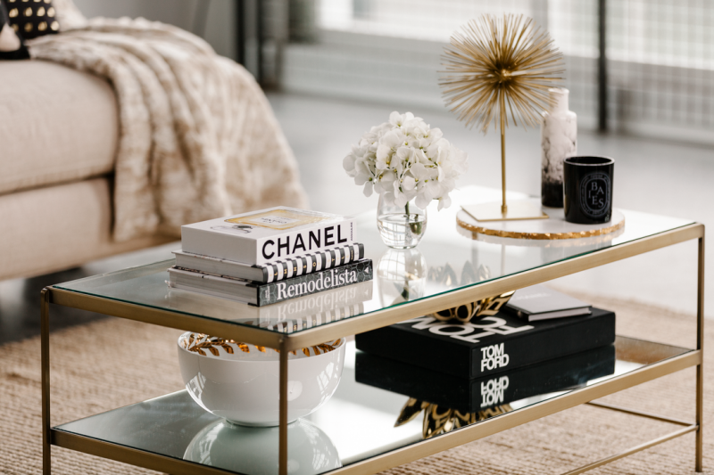 luxe style coffee table