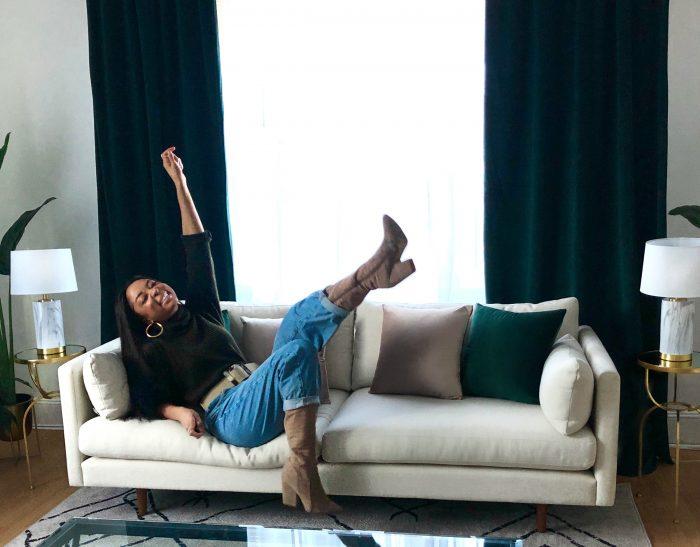 Chazeen's Tropical New York Living Room