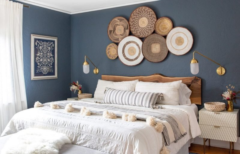 Navy blue paint for the bedroom