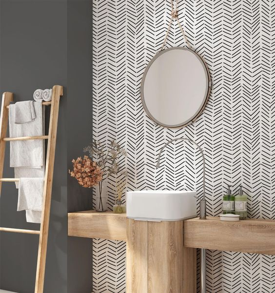 7 Wallpapers for a Bold, Beautiful Bathroom