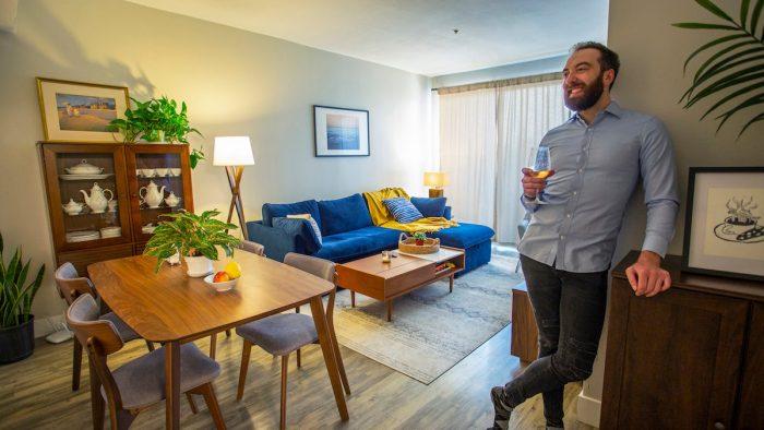 Mike's Coastal Mid-Century Living Room